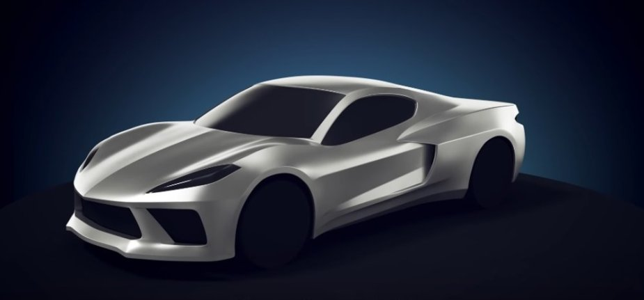 Mid-Engine Corvette Render Front 3/4