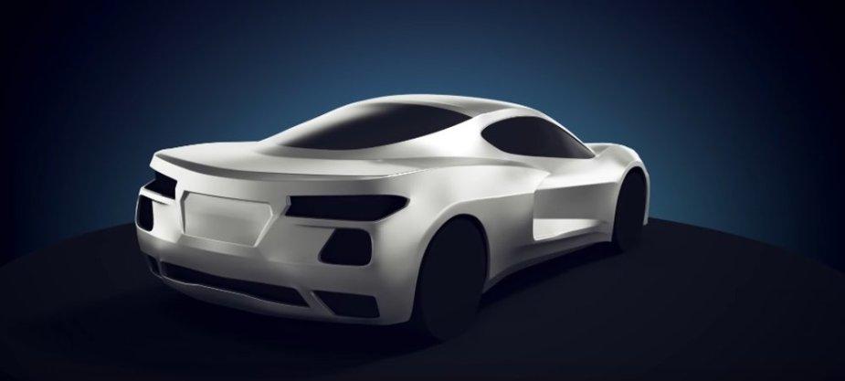 Mid-Engine Corvette Render Rear