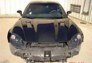 Corvette ZR1 Fenders Painted