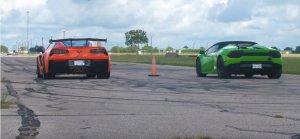 Corvette ZR1 Versus Huracan Rear
