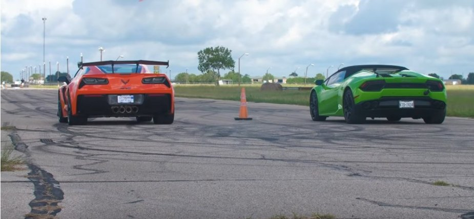 Corvette ZR1 Versus Huracan Rear