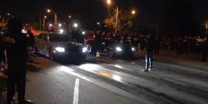 Charger Hellcat street races C7 Corvette for cash