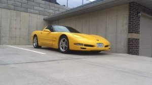 Millenium Yellow C5 Corvette