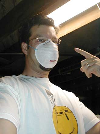 Simple convenience dust mask to protect from silica fibers in ceramic fiber blanket