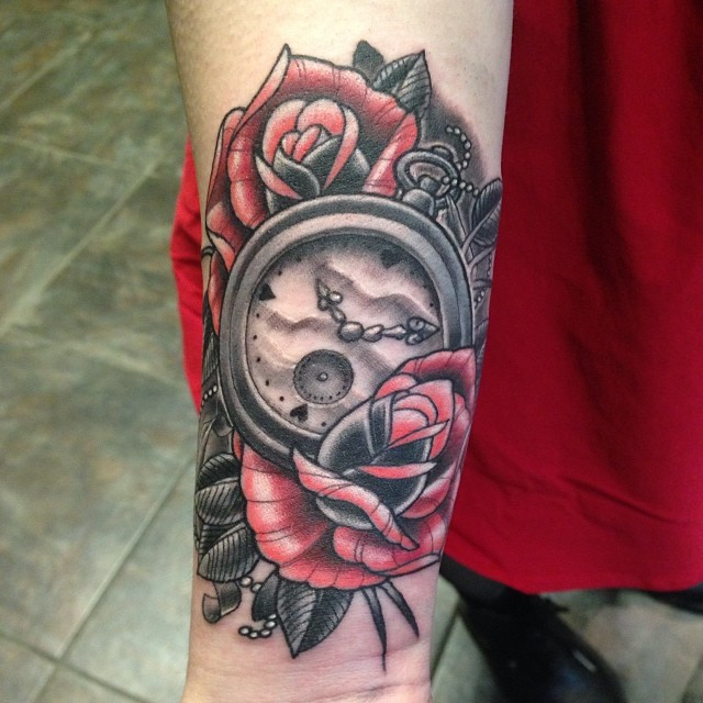 Clock and Rose 2