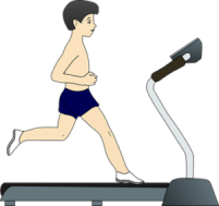 child on treadmill