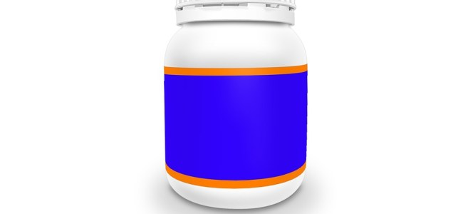 a bottle of supplements