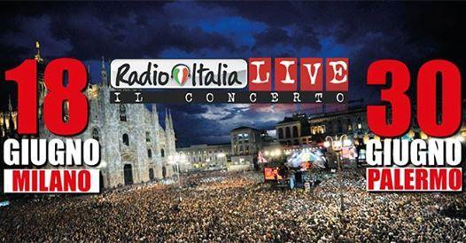 Radio Italia Live in piazza Duomo Milano il 18 giugno 2017