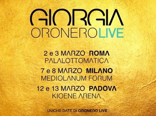 Giorgia – Oronero Live a Milano