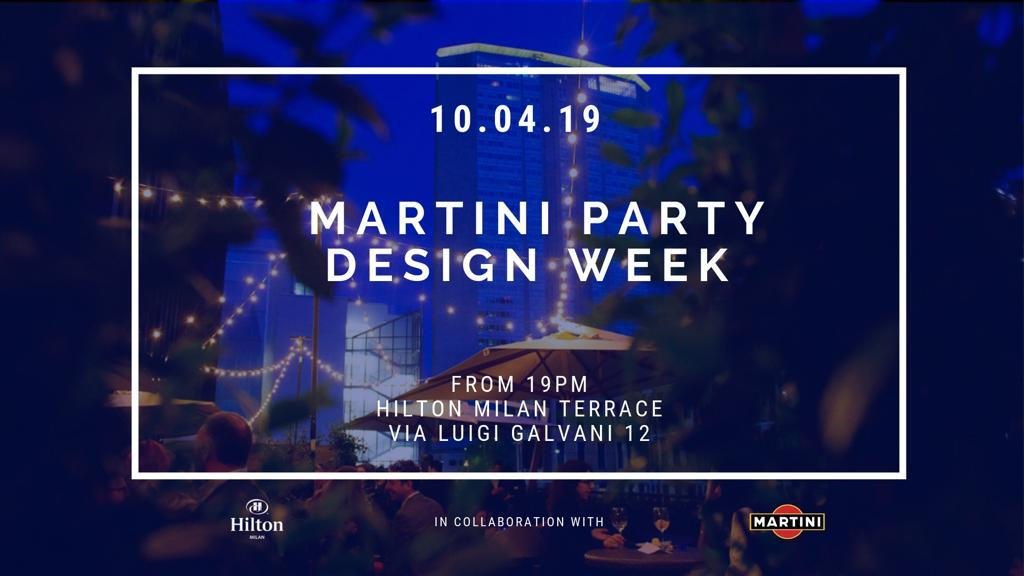 Fuorisalone 2019 – Official Martini cocktail Hilton Milano
