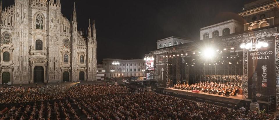 La Filarmonica della Scala e Riccardo Chailly in Piazza Duomo