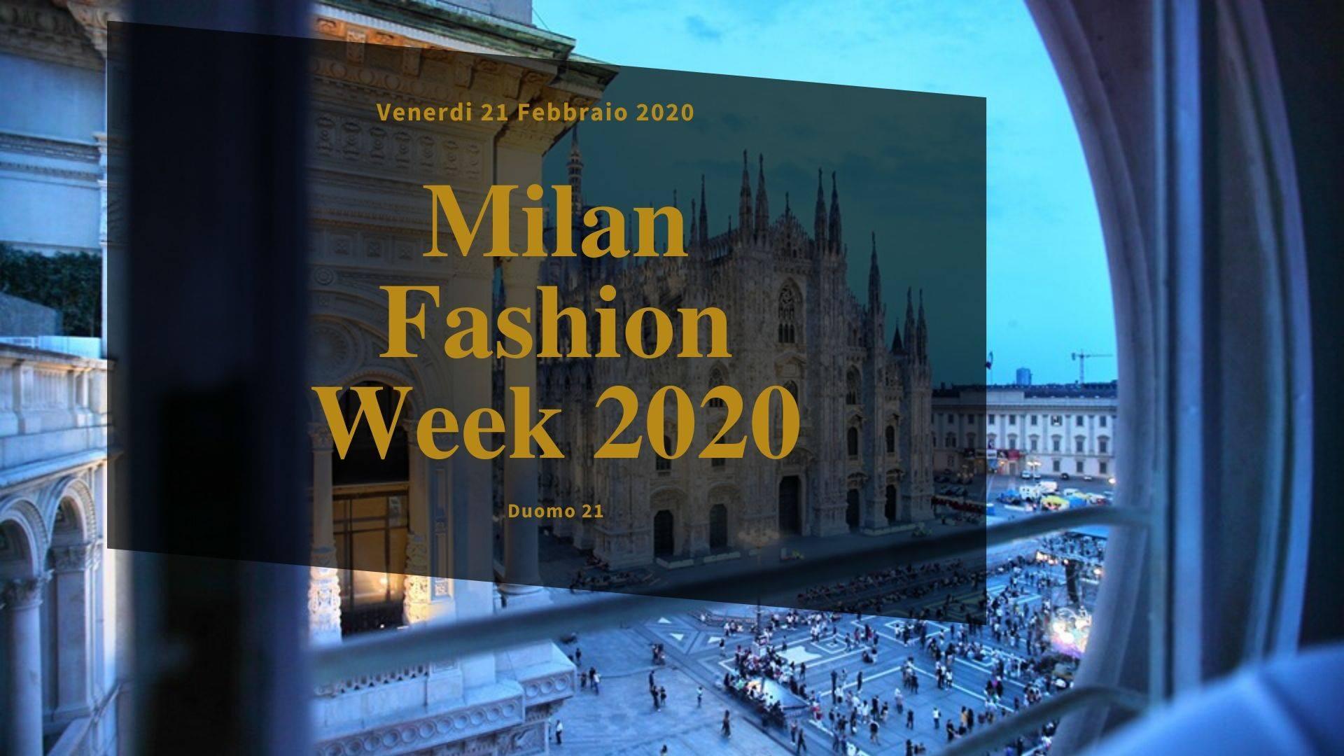 Milan Fashion Week – Chic Aperitif @ Duomo 21