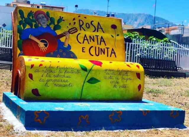 La panchina letteraria dedicata a Rosa Balistreri