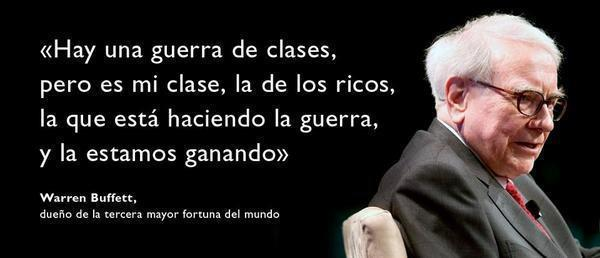 Warren Buffet y la guerra de clases