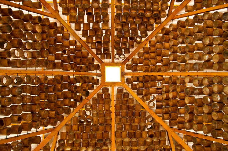 cubierta bambu