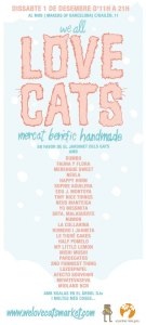 Cartel del mercadillo solidario We Love Cats Market