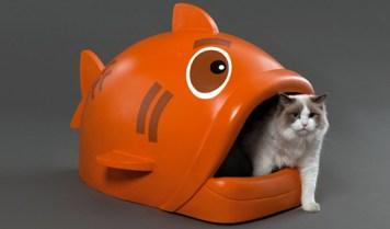 Bandeja sanitaria de diseño diferente: en forma de tiburón