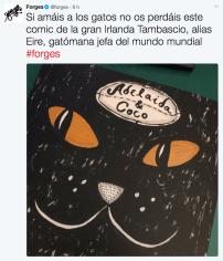 Sorteo cómic gatos Adelaida & Coco Forges recomendación