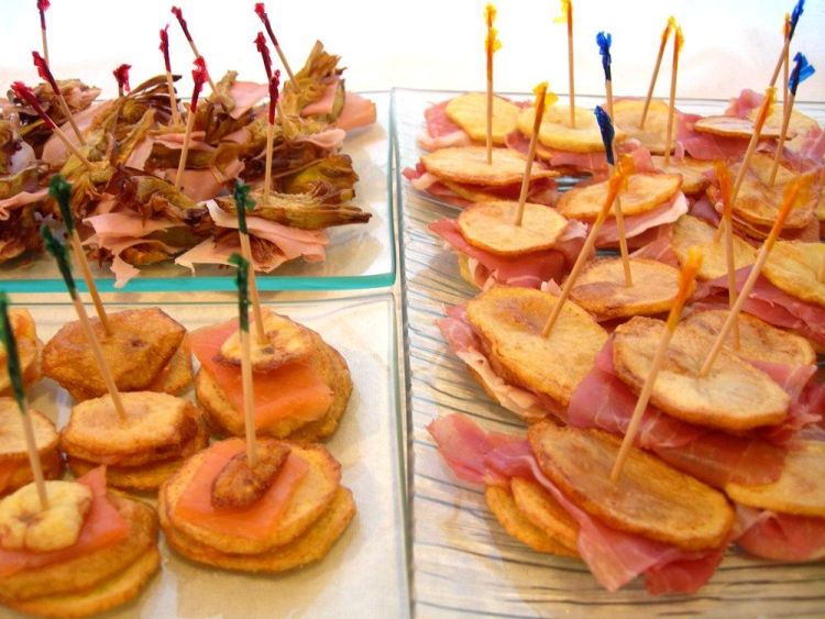 finger food con patate e carciofi