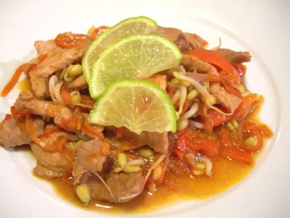 Filetto di maiale thai al lime