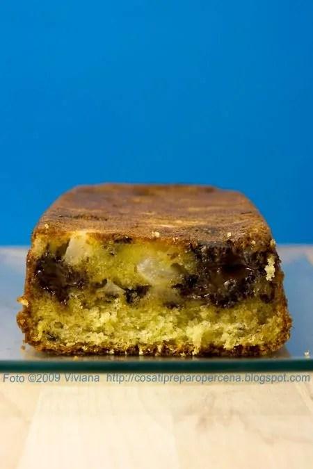 Plumcake pere e cioccolato che piace al contadino