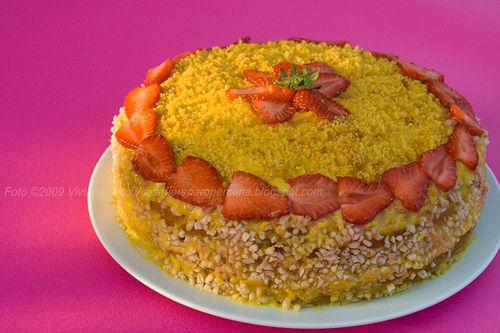 Torta paradisiaca mimosa