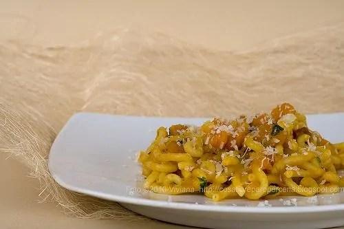 gramigna con zucca e pancetta