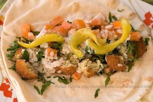 come si mangiano i falafel