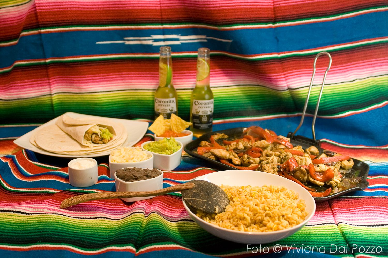 fajitas cena messicana