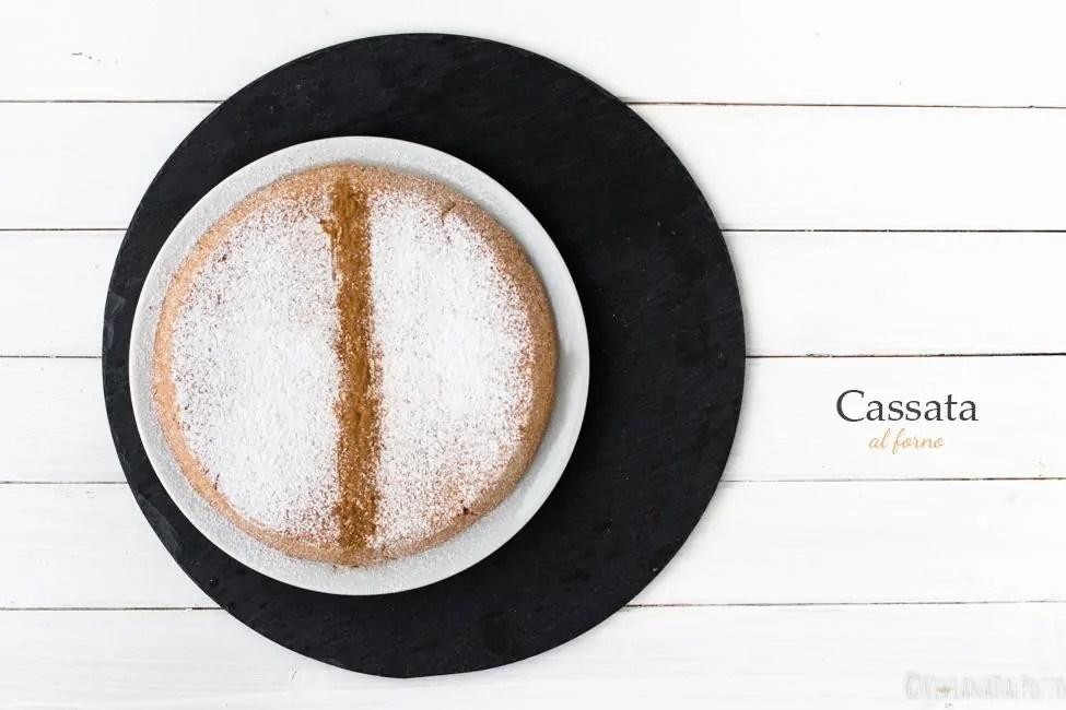 La cassata al Forno Siciliana e la crema di ricotta e cioccolato
