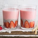 smoothie chia pudding fragole