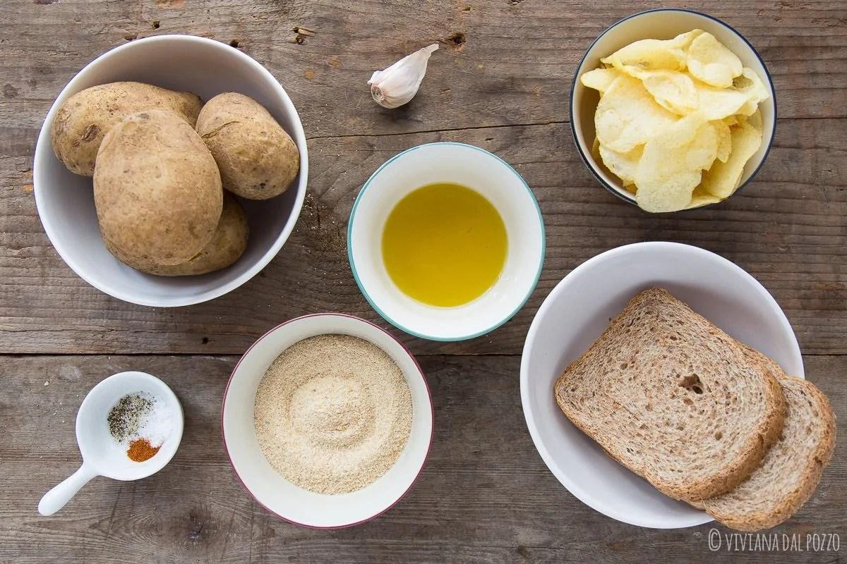 ingredienti per ricetta patate sabbiose