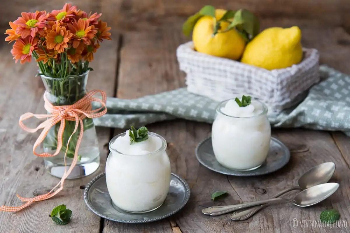 sorbetto al limone senza gelatiera