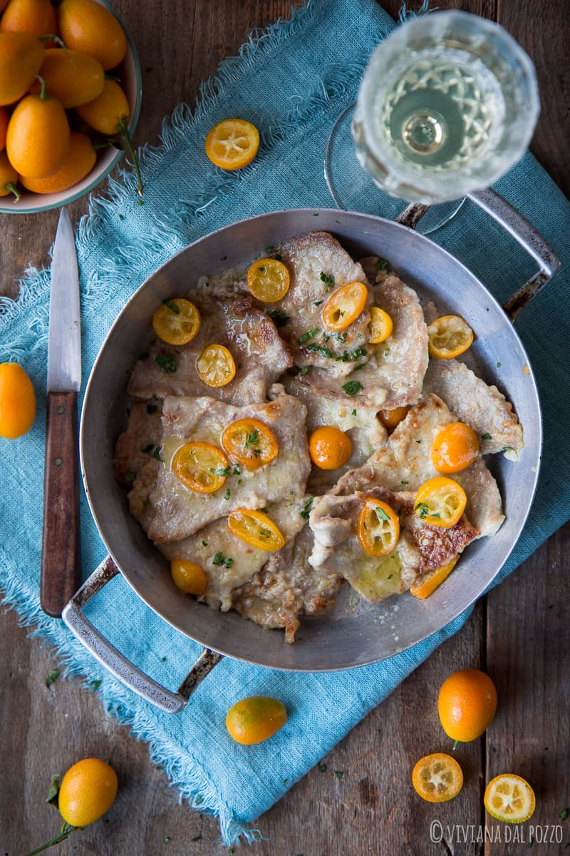 scaloppine al vino con kumquat