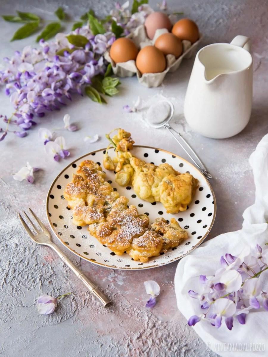 frittelle dolci di glicine