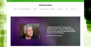 Immagine della home page del sito multidimensionalismo.com che rimanda al sito dedicato a questo argomento