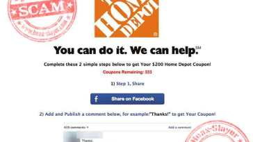 home depot coupon survey scam