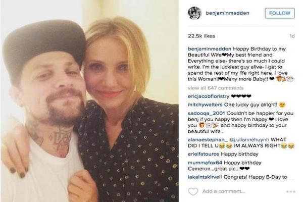 couple in instagram post