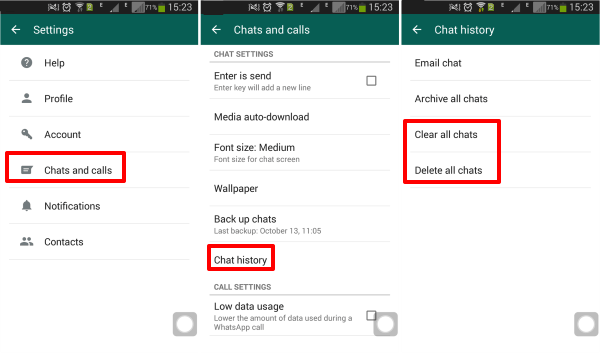 Delete group in WhatsApp log without being an admin