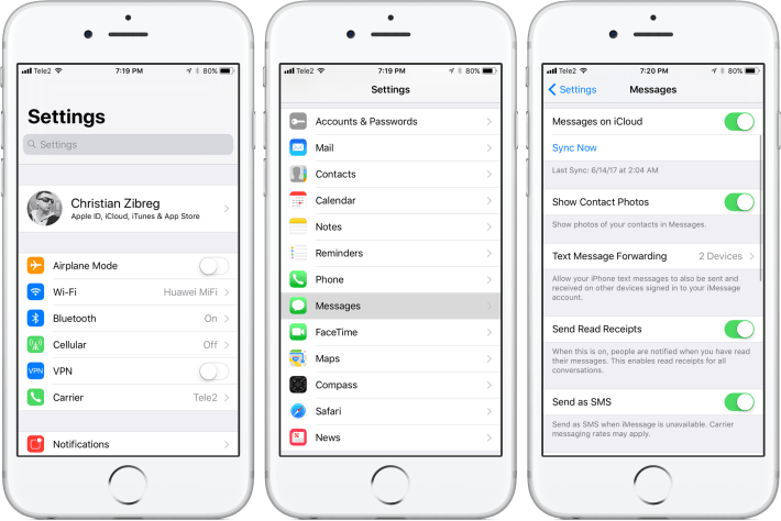Now Sync up your iMessages instantly!