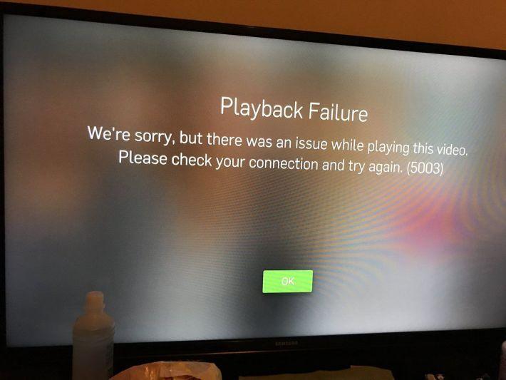 playback failure