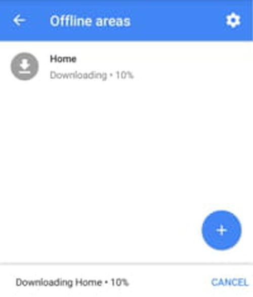 Download Offline Area