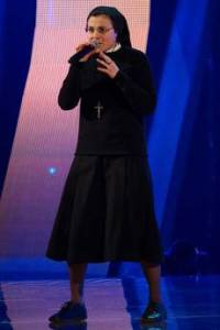 Suor Cristina (foto Ansa.it)