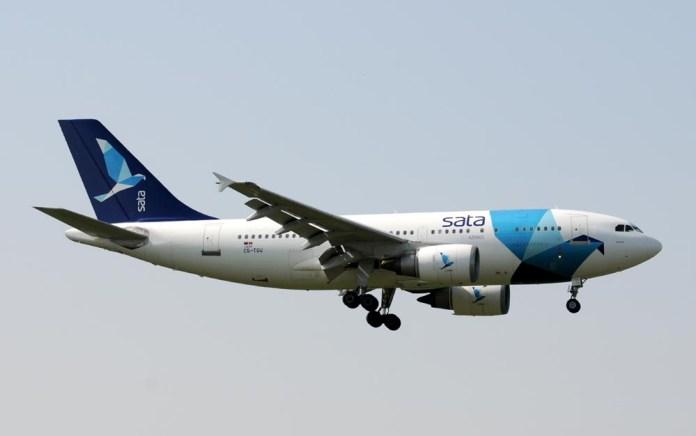 L'Airbus A310-300 della Azores Airlines che ha portato il Porto a giocare contro la Juve