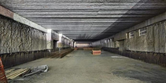 foto B: Il camerone già predisposto durante la costruzione del Passante ferroviario