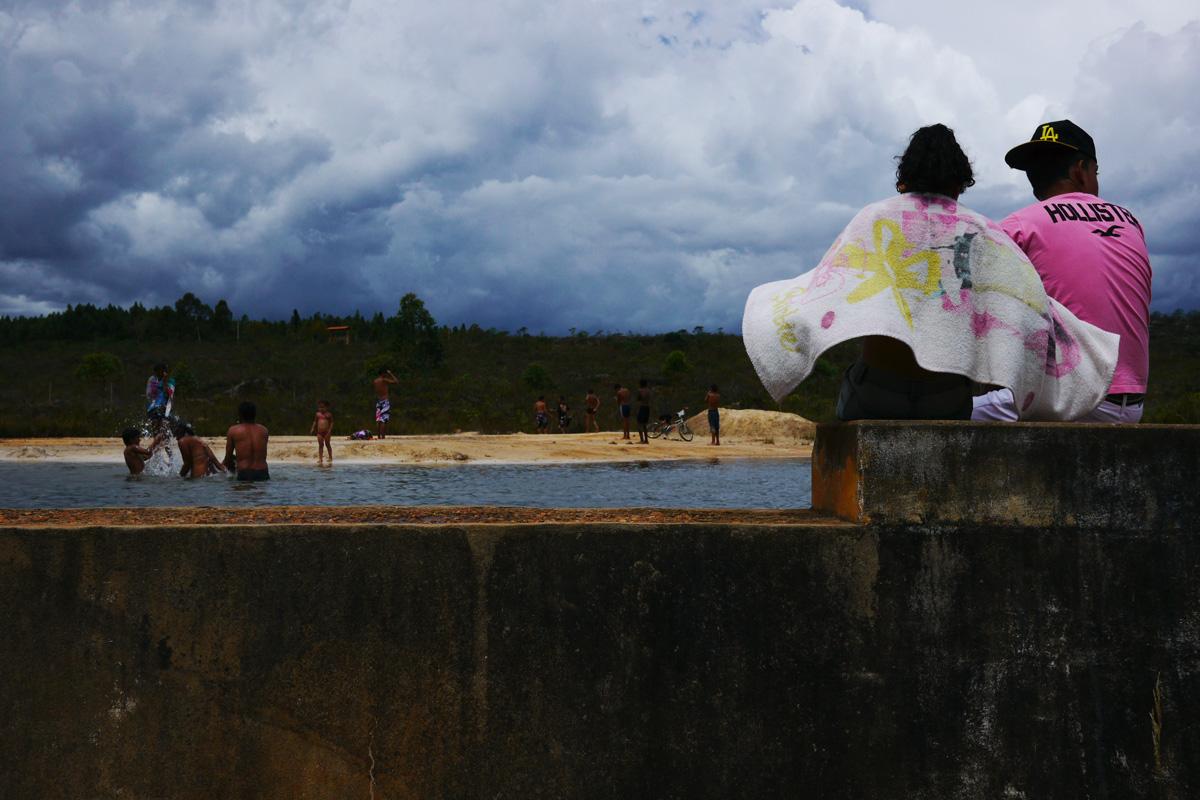 Curvelo. Brasile. 2013. Presso una piccola diga - 4