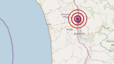 Photo of Scossa di terremoto nella notte, epicentro a Castiglione Cosentino