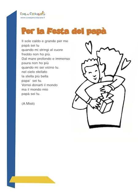 Per La Festa Del Papà Poesia Per Bambini