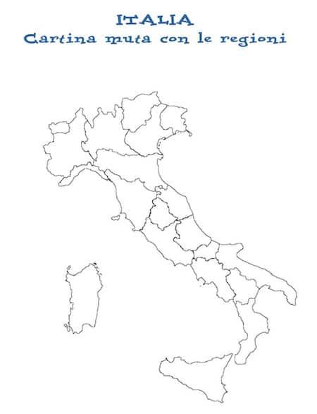 Cartina Muta Della Spagna Da Completare.Cartina Politica Dell Italia Da Stampare Carameson