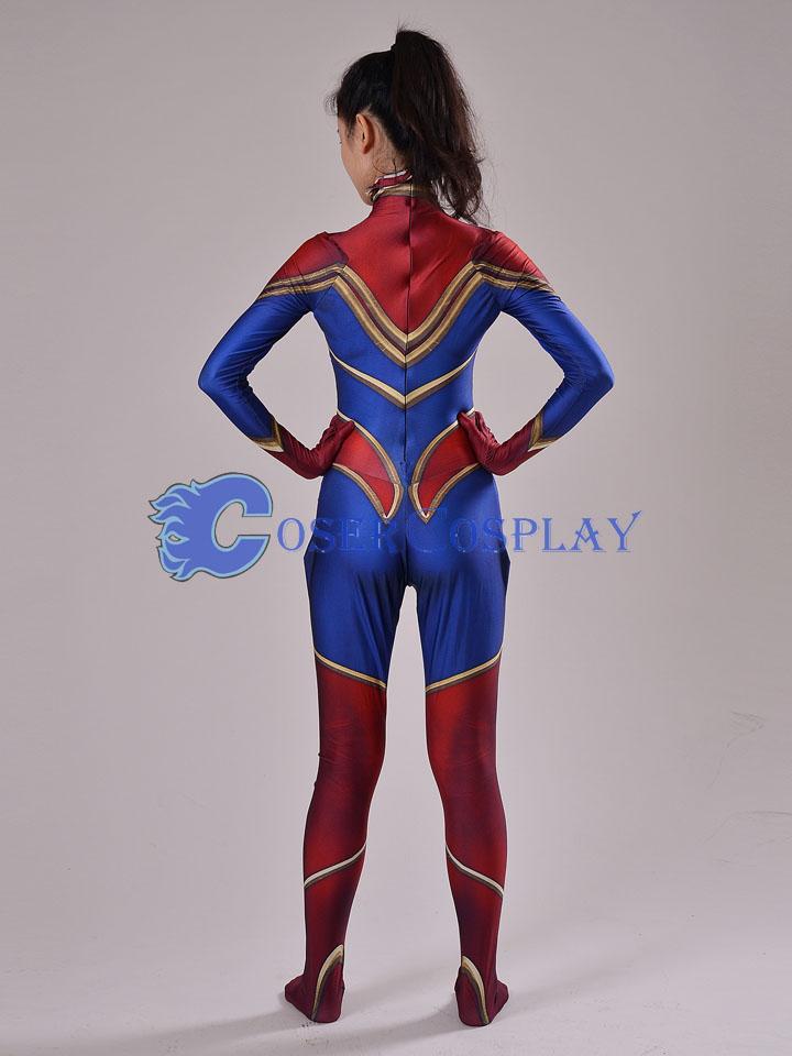 2018 Captain Marvel Carol Danvers Cosplay Costume